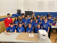 middle school students and teacher at engineering day