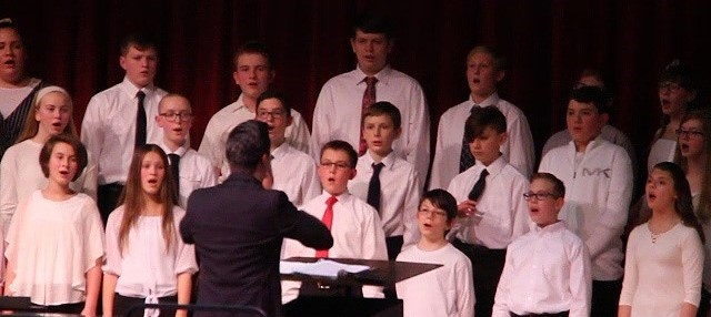 students singing in concert