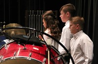 students playing percussion instruments