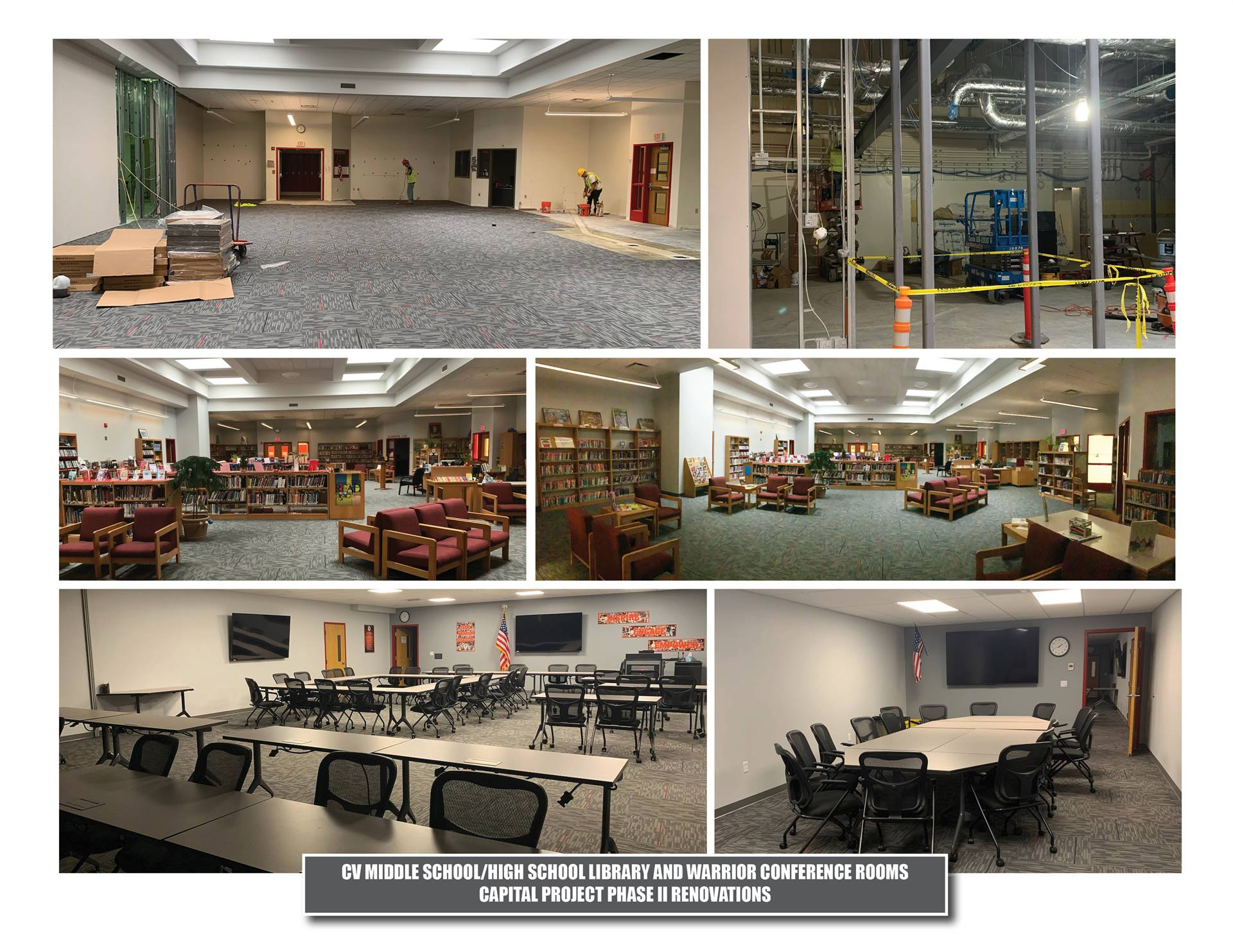 chenango valley middle school/high school library and warrior conference room renovations