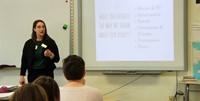 presenter speaking at body image presentation