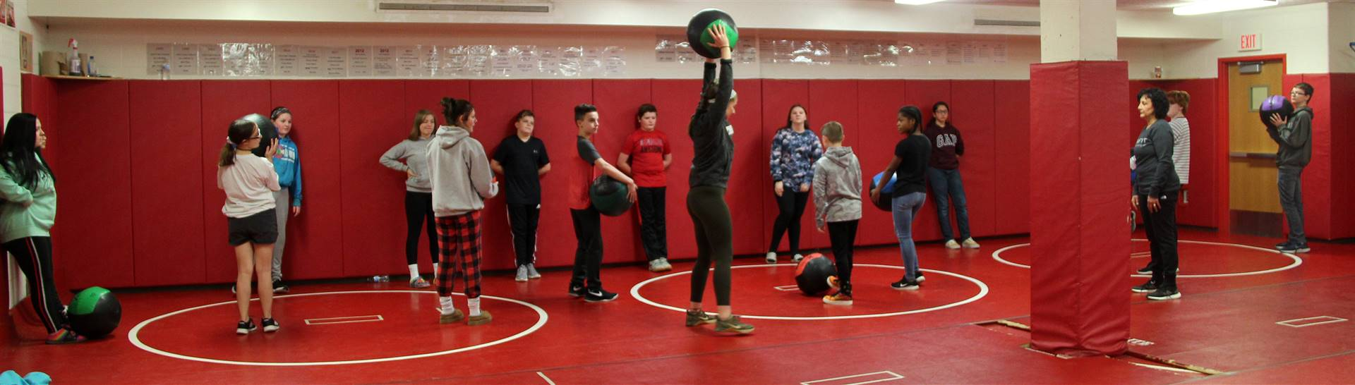 students taking part in cross fit activity