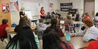 wide shot of students taking part in nutrition activity