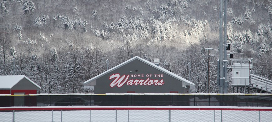 snowy home of the warriors building