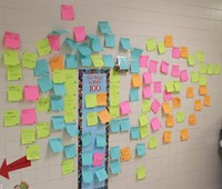 100 ways to make 100 project on hallway wall