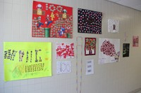 more 100 days of school projects in hallway
