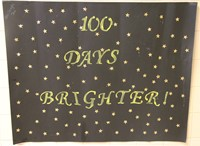 100 days of school project with stars