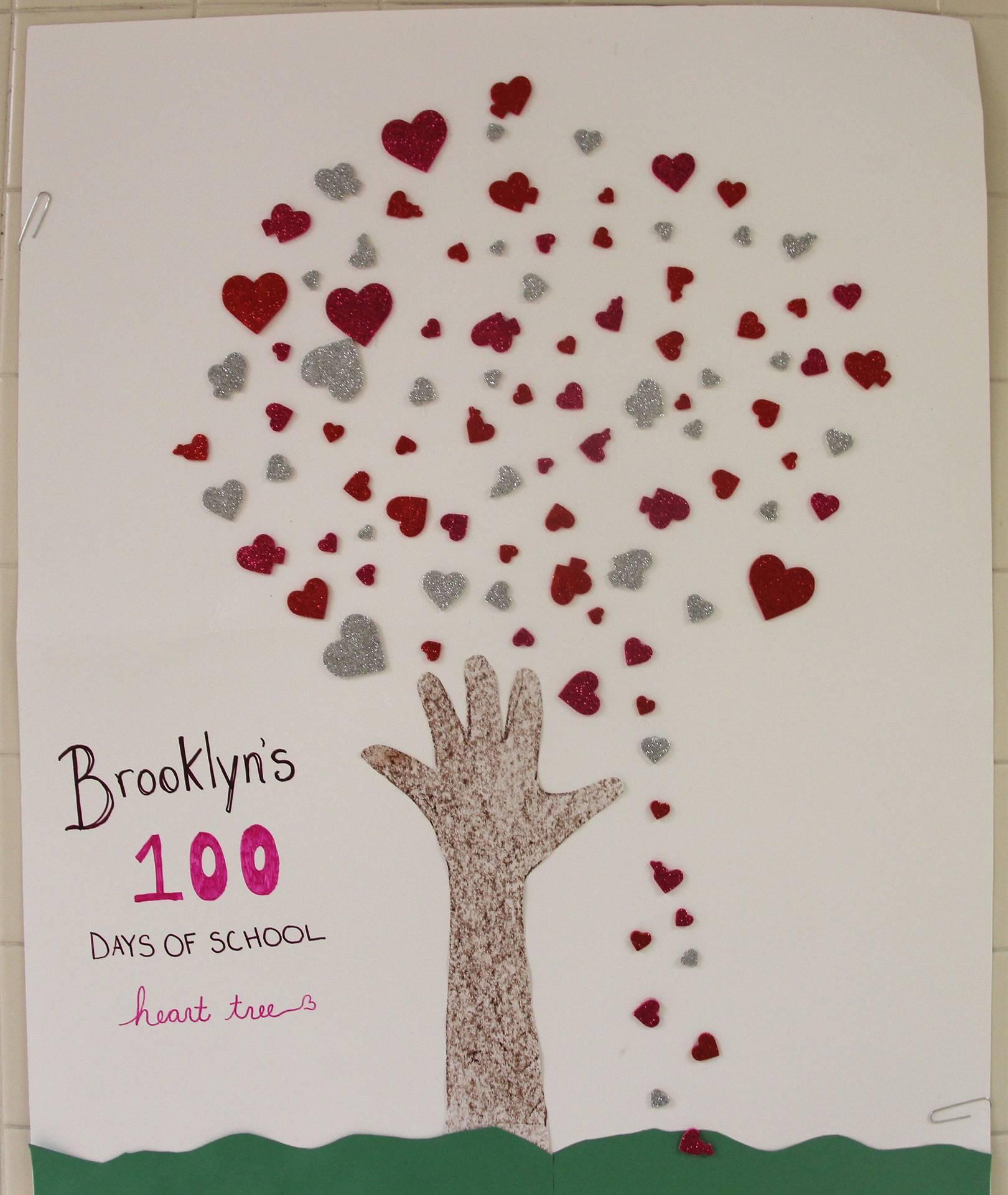 100 days of school poster