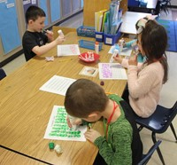 students taking part in 100 days of school activity