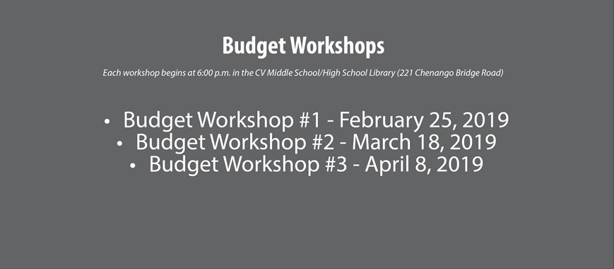 budget workshop dates