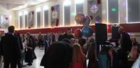 wide shot of dance floor