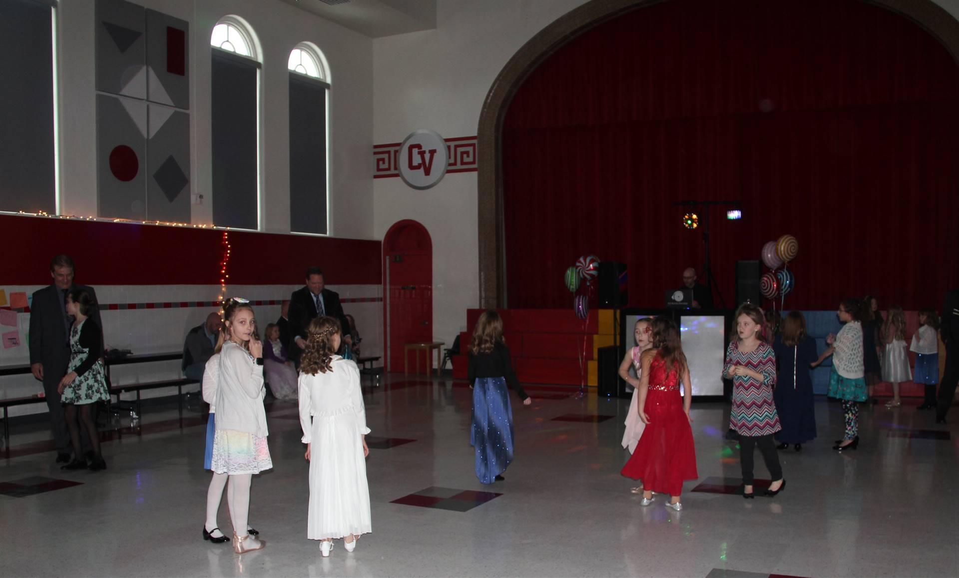 students on dance floor