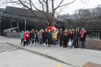 group outside of corning museum of glass