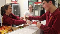 student buying concessions
