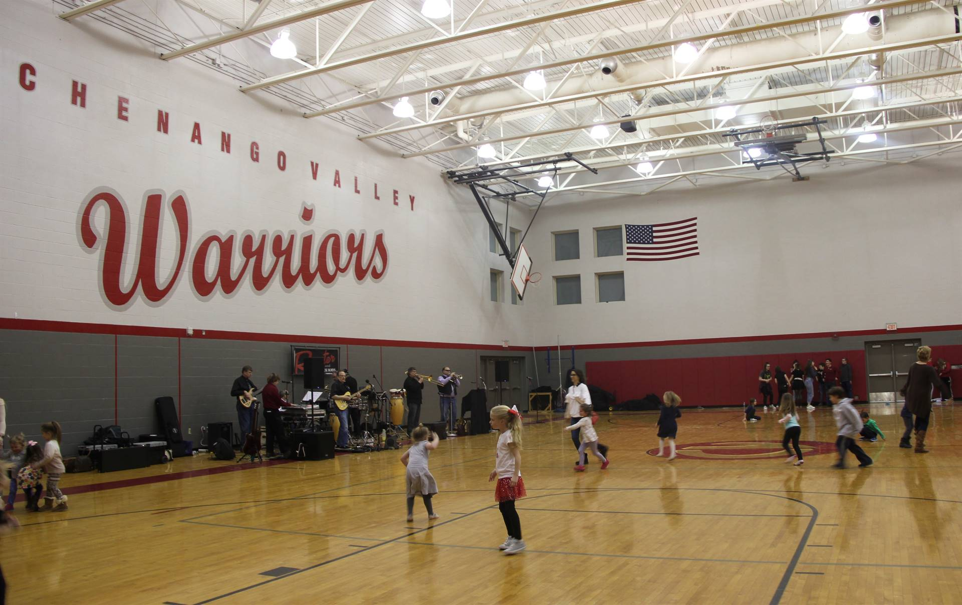 wide shot of gymnasium for the big gifted give event