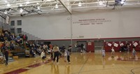 wide shot of gymnasium for big gifted give event