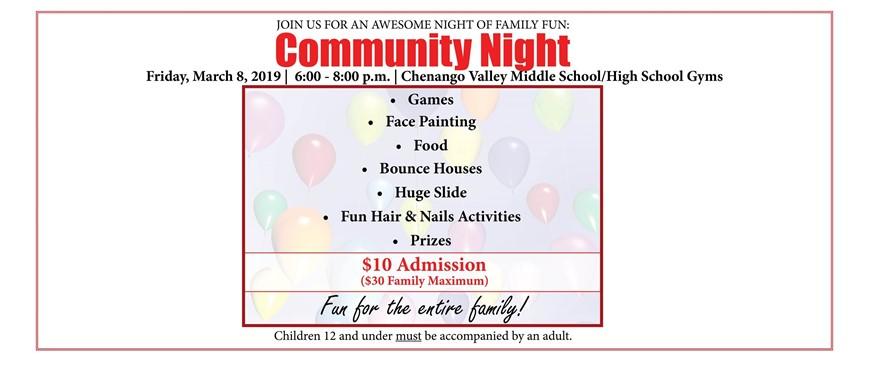 Community Night Web flyer