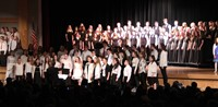 students singing in chenango valley warriors for peace concert 21