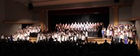 students singing in chenango valley warriors for peace concert 20