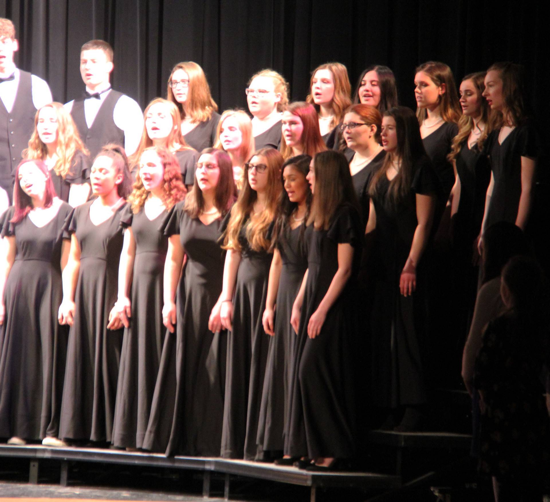 students singing in chenango valley warriors for peace concert 19