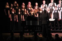 students singing in chenango valley warriors for peace concert 18