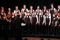 students singing in chenango valley warriors for peace concert 17