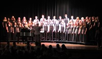 students singing in chenango valley warriors for peace concert 16