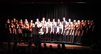 students singing in chenango valley warriors for peace concert 14
