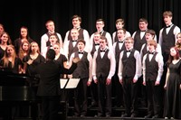 students singing in chenango valley warriors for peace concert 13