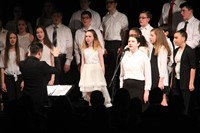 students singing in chenango valley warriors for peace concert 12