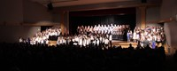 students singing in chenango valley warriors for peace concert 10