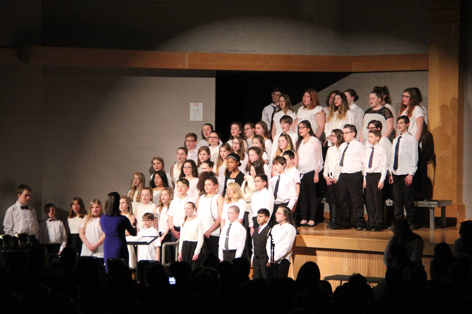 students singing in chenango valley warriors for peace concert 9