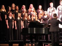 students singing in chenango valley warriors for peace concert 8