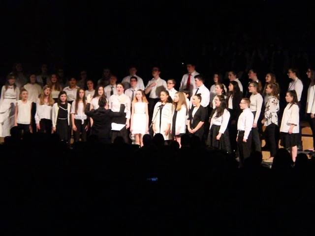 students singing in chenango valley warriors for peace concert 7