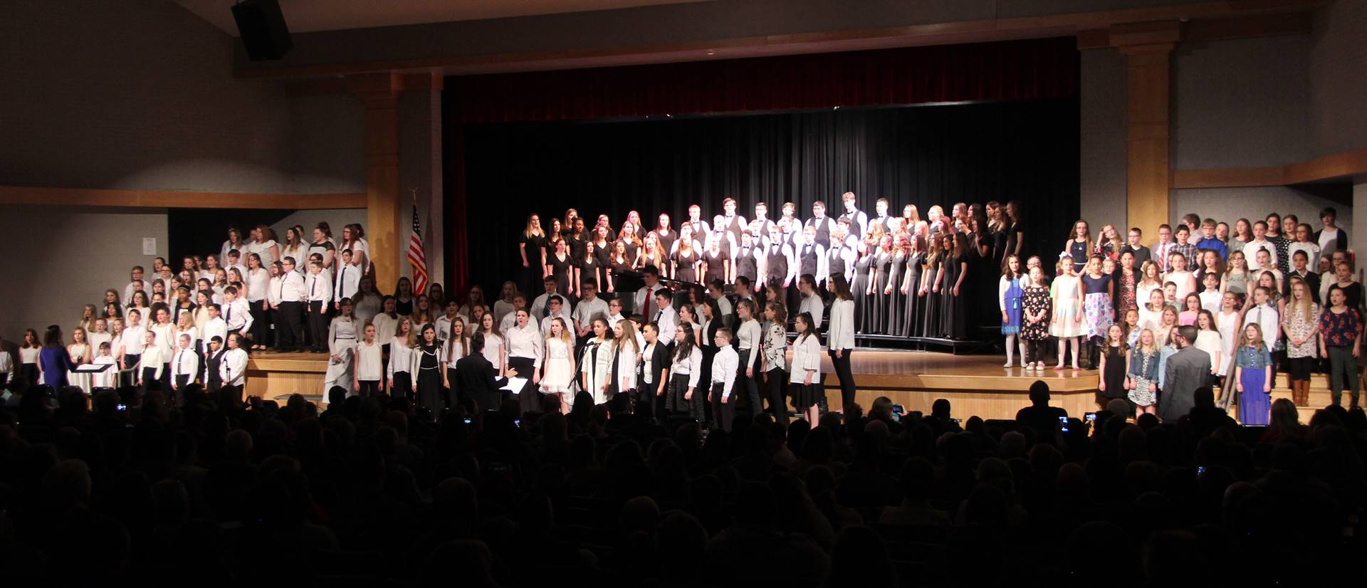 students singing in chenango valley warriors for peace concert 1