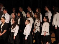 students singing in chenango valley warriors for peace concert 6