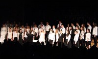 students singing in chenango valley warriors for peace concert 3