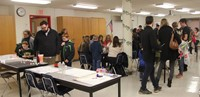 wide shot of activity room during steam night