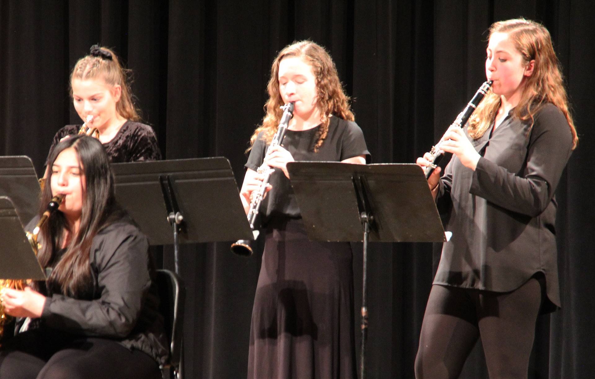 Students performing in Pops Concert 18