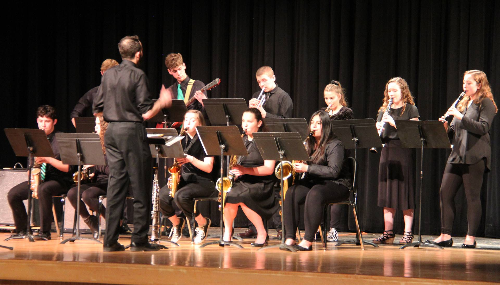 Students performing in Pops Concert 17