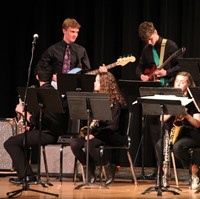 Students performing in Pops Concert 16