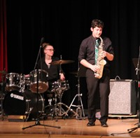 Students performing in Pops Concert 15