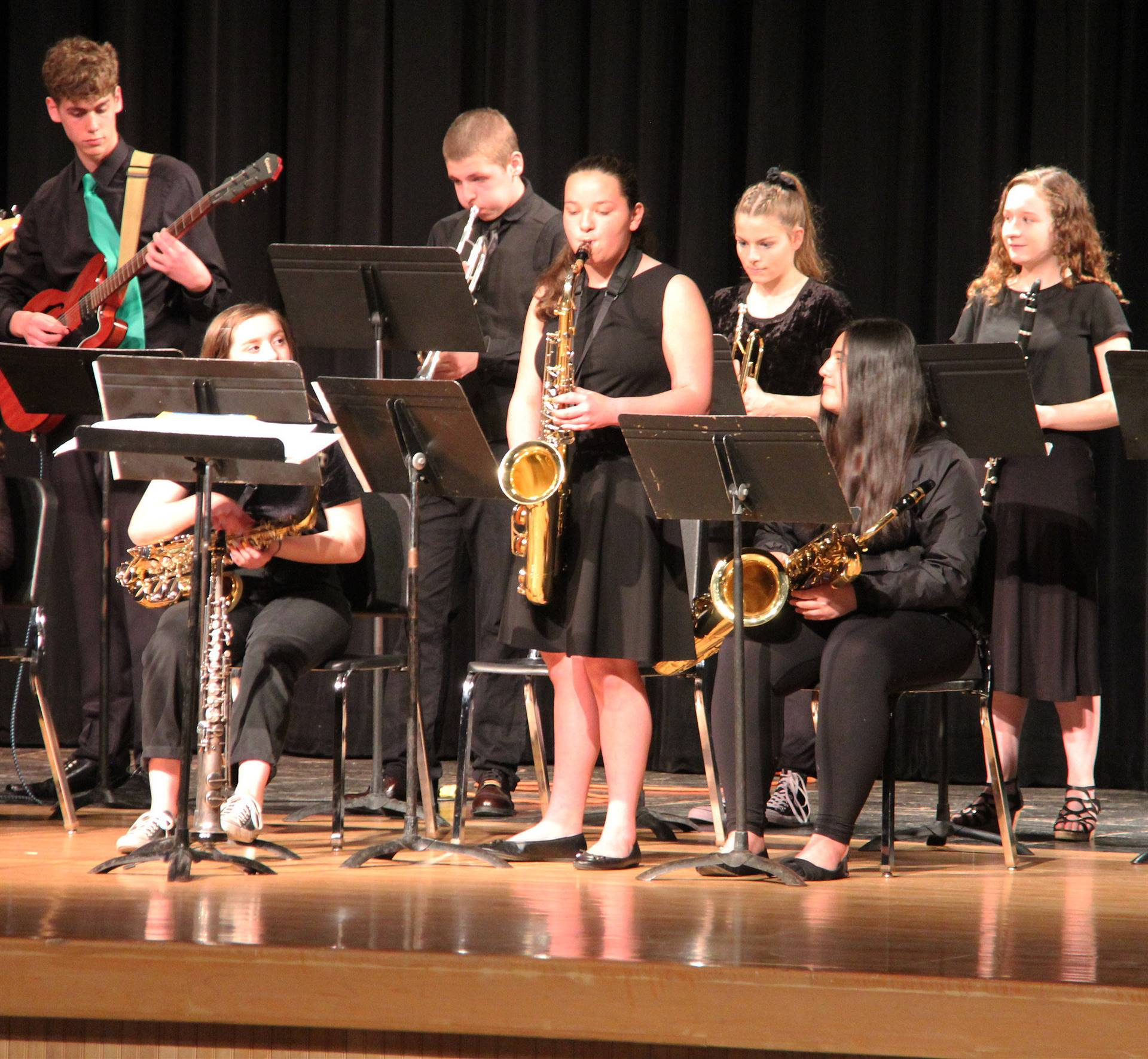 Students performing in Pops Concert 14