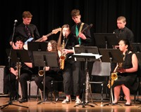 Students performing in Pops Concert 13