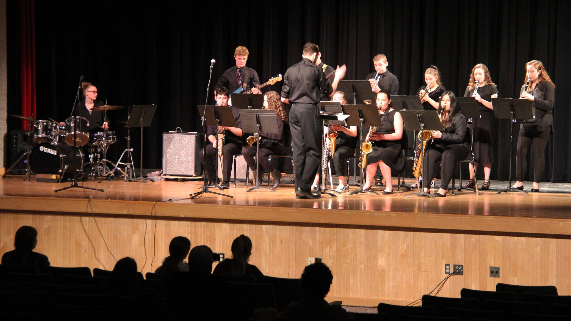 Students performing in Pops Concert 12