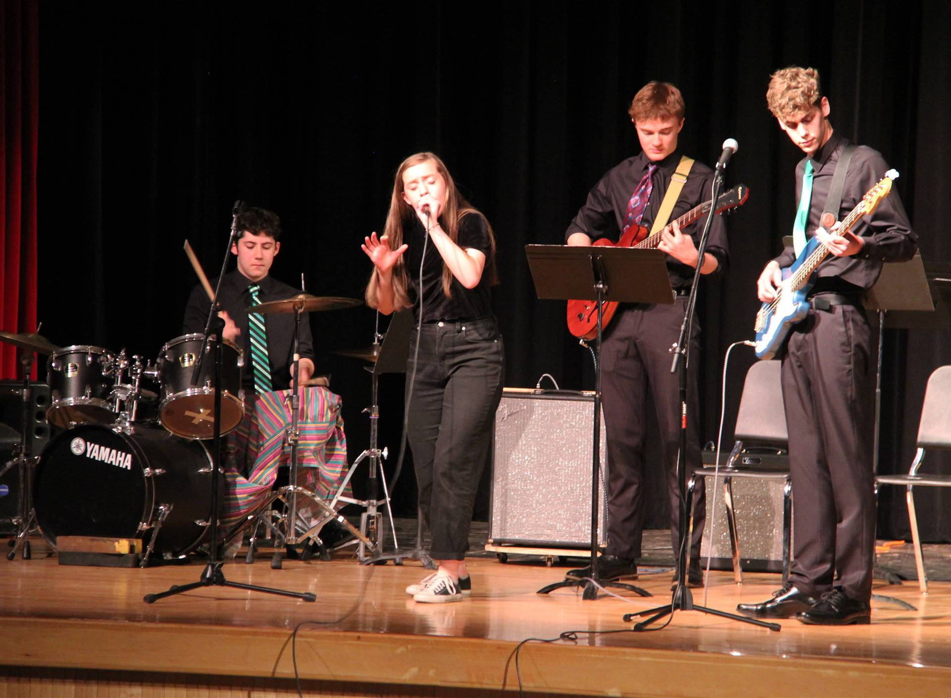 Students performing in Pops Concert 11