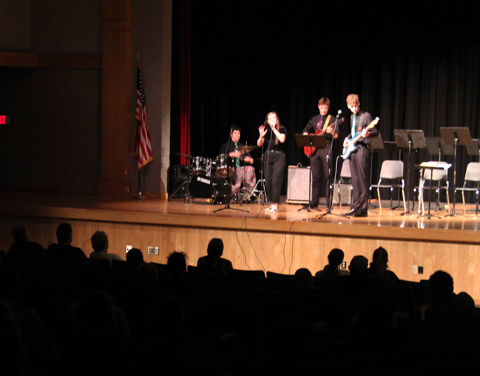 Students performing in Pops Concert 10