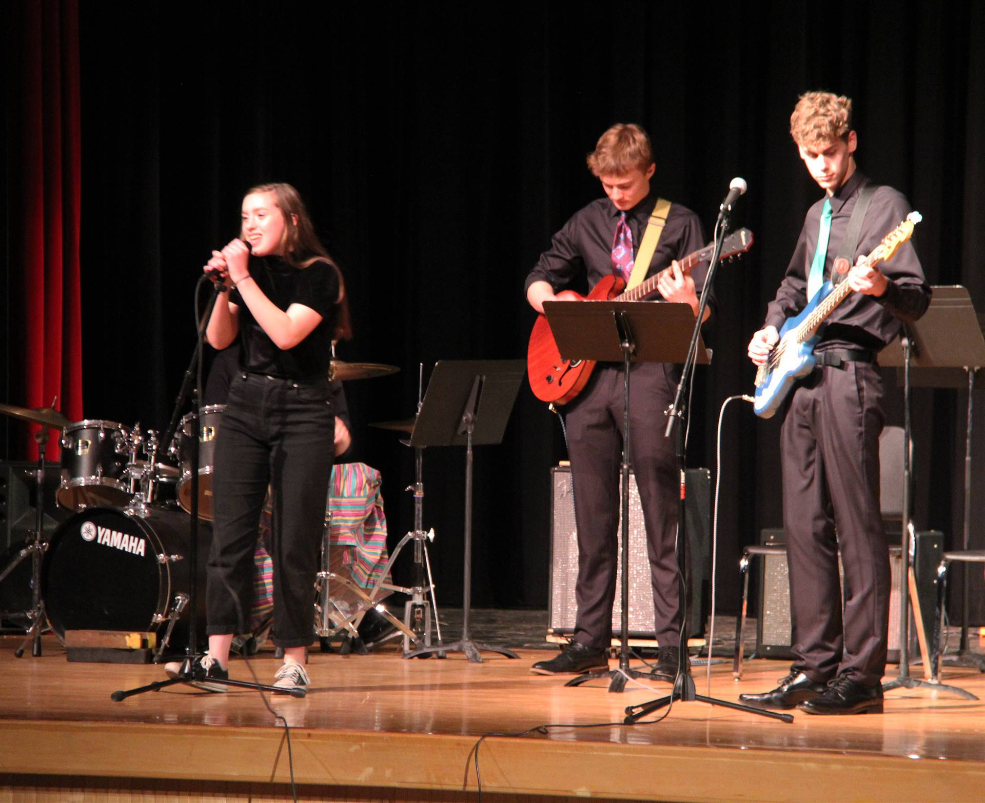 Students performing in Pops Concert 9