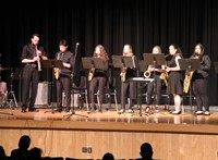 Students performing in Pops Concert 5