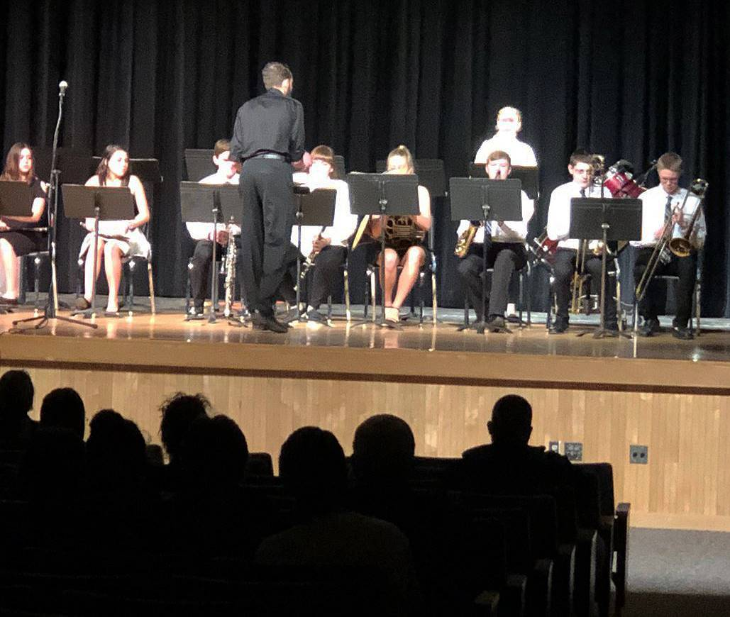 Students performing in Pops Concert 2